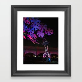 purple paper ponder Framed Art Print