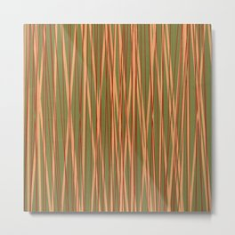 Stripes Discrete Metal Print