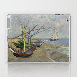 "Vincent Van Gogh ""Fishing boats on the Beach at Les Saintes-Maries-de-la-Mer"" Laptop & iPad Skin"