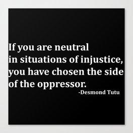 Desmond Tutu Canvas Print