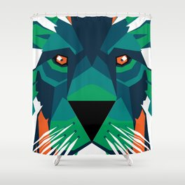 Aurora Lion Shower Curtain