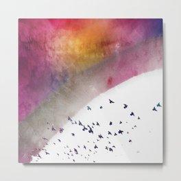 Birds of a RainBow Metal Print