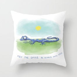 Gabriel the Gecko Throw Pillow