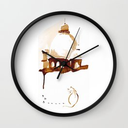I am not the castle type of cat Wall Clock