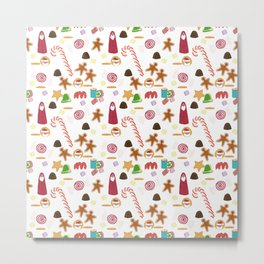 Christmas Sweeties Candies, Peppermints, Candy Canes and Chocolates Metal Print