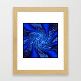 Twisted in Blue... Framed Art Print