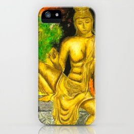 Sri Lankan Statue iPhone Case