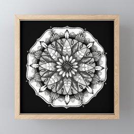FlowerMandala Framed Mini Art Print