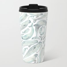 Beluga Whales Metal Travel Mug