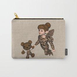 Little Girl Fairy Baby Bear Carry-All Pouch