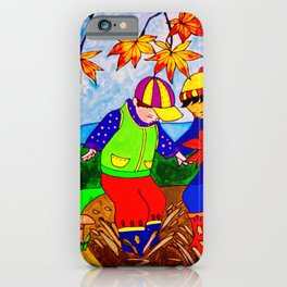 Splashy Puddle Jumpers iPhone Case
