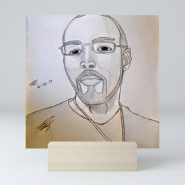 Double R self portrait Mini Art Print