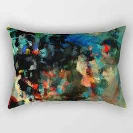 Colorful Landscape Abstract Painting Rectangular Pillow
