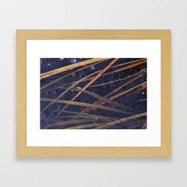 late autumn lake view. Framed Art Print