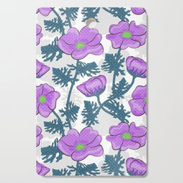 Flowers pink on white background. Cutting Board