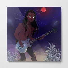 Blood Thunder Moon and booming music Metal Print