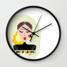 Lucky Lashes. The importance of eyelash extention. Abstract Wall Decor. Modern Art Wall Clock