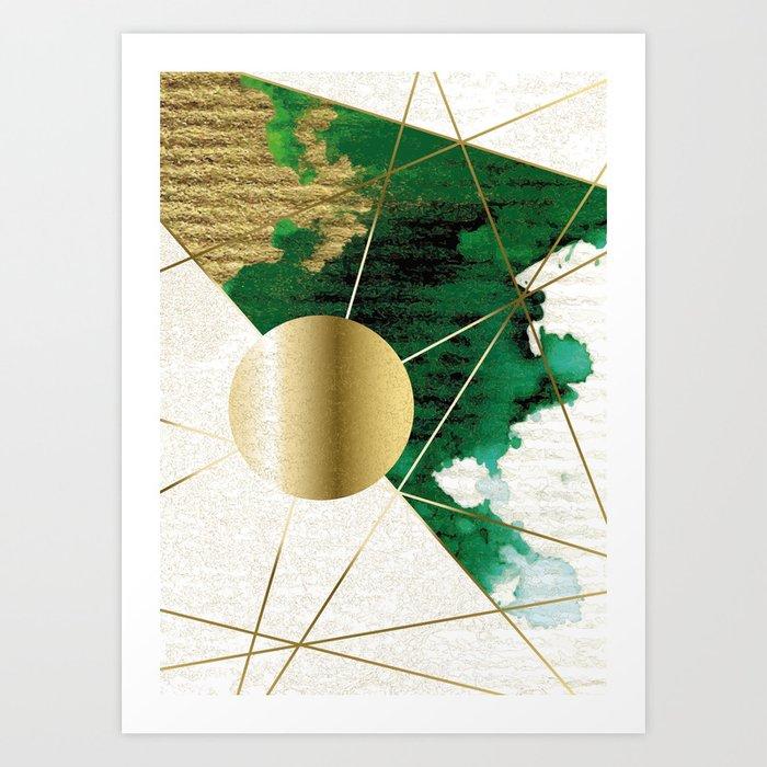 Clair de la lune on Green Art Print