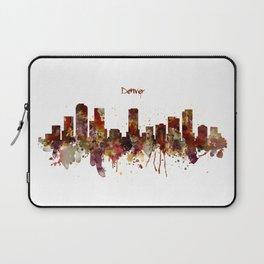 Denver Skyline Silhouette Laptop Sleeve