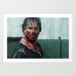 Don't Mess WIth Rick Grimes - The Walking Dead Art Print