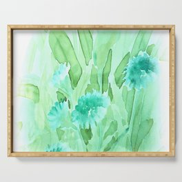 Soft Watercolor Floral Serving Tray