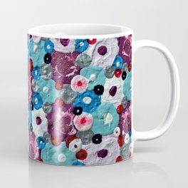 Mixed Flowers - Abstract Mixed Media Painting Coffee Mug