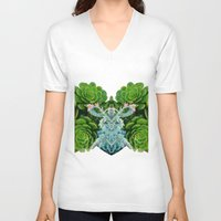 succulent V-neck T-shirts featuring Sexual Succulent  by Charlotte hills