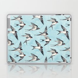 Blue Sky Swallow Flight Laptop & iPad Skin