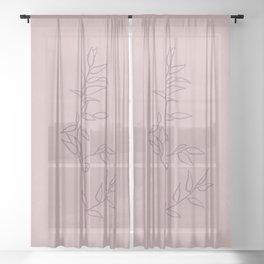 Plant Illustration XV Sheer Curtain