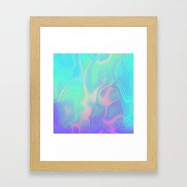 Rainbow Sea Framed Art Print