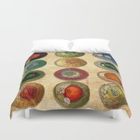 atlas Duvet Covers featuring ATLAS by d.ts
