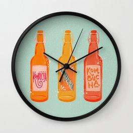 Kombucha Bottles - Mint Palette Wall Clock
