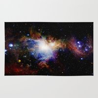 nebula Area & Throw Rugs featuring Orion NebulA Colorful Full Image by 2sweet4words Designs