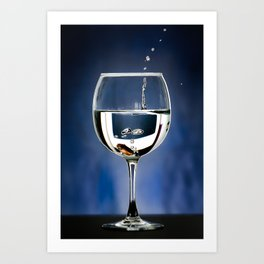 A penny in a glass Art Print