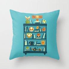 Mario Shelf Throw Pillow