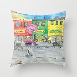 Happy Town Throw Pillow