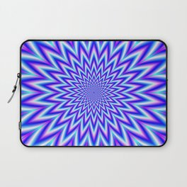 Star Mania in Blue Pink White and Violet Laptop Sleeve