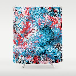 Demonic Toy Poodle Abstract Shower Curtain