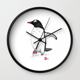 Gentoo penguin study I Wall Clock