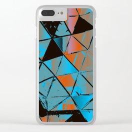 Molecular Glitch Clear iPhone Case