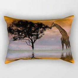 Giraffe at Sunset Rectangular Pillow