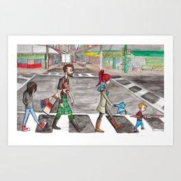 Aspie Road Art Print