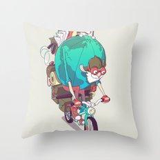 Mr. Traveler Throw Pillow