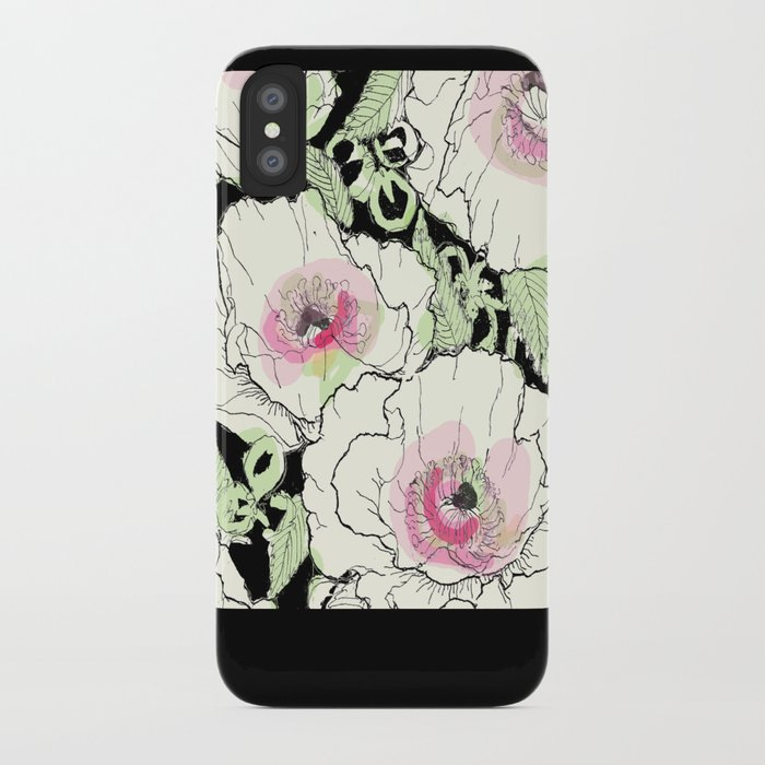 poppies creme iPhone Case by ariadne  a47dacb35