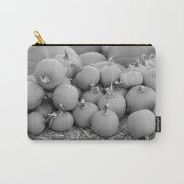 Pumpkin Patch (Black and White) Carry-All Pouch