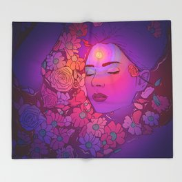 Floral Bath 2 | 2018 Throw Blanket
