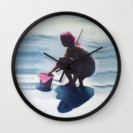 Le seau rose Wall Clock