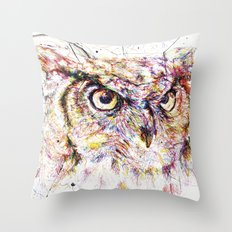 Owl // Ahmyo Throw Pillow