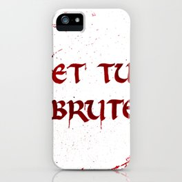Bloody Last Words iPhone Case