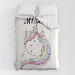 UNICORNS ARE REAL Comforters
